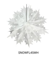 Foldout Paper Snowflakes - White