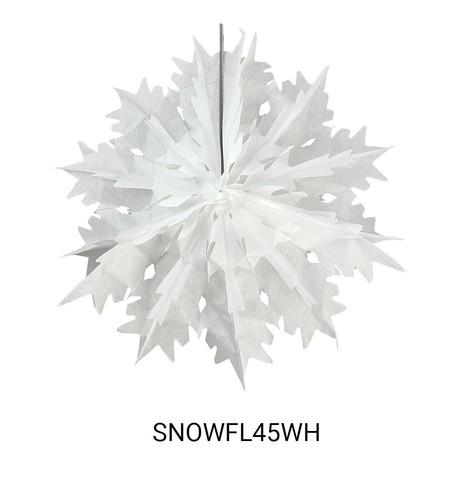 Foldout Paper Snowflakes White
