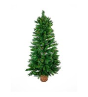 Decorated Wall Mounted Half Christmas Tree - Green