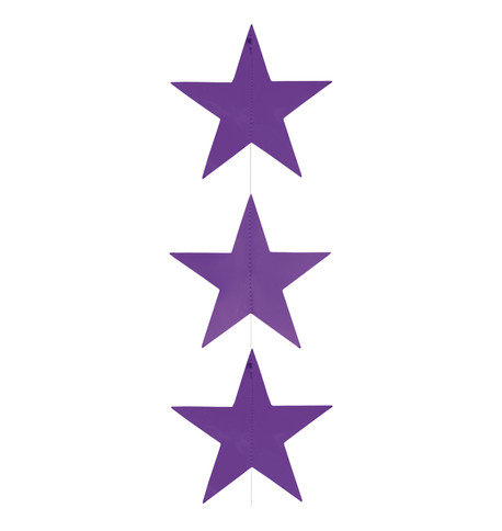 Foil Star Garlands - PURPLE Purple