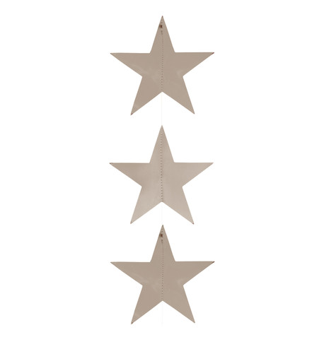 Foil Star Garlands - SILVER Silver