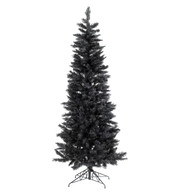 SLIMLINE PINE CHRISTMAS TREE - BLACK - Black