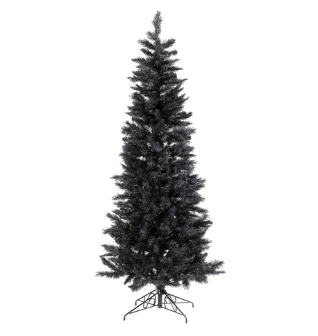 SLIMLINE PINE CHRISTMAS TREE - BLACK Black