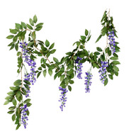 WISTERIA GARLAND - PURPLE - Purple