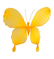 GLITTERED BUTTERFLY - YELLOW - Yellow