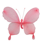 GLITTERED BUTTERFLY - PINK - Pink