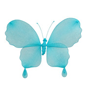 GLITTERED BUTTERFLY - TURQUOISE - Turquoise