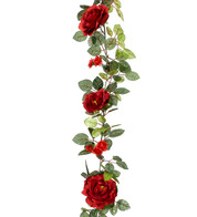 ROSE GARLAND - RED - Red