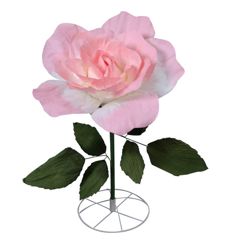LARGE PARCHMENT ROSE - PINK Pink