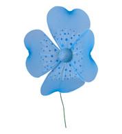 GLITTERED NET FLOWER - Blue