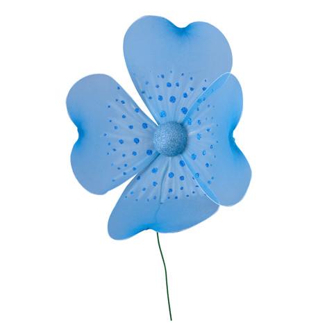 GLITTERED NET FLOWER Blue