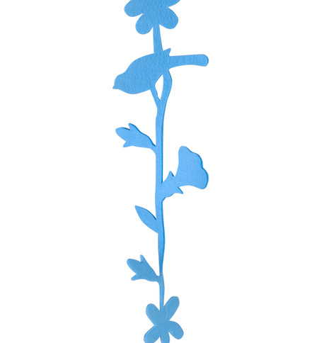 FLOWER AND BIRD GARLAND - BLUE Blue