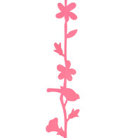 FLOWER AND BIRD GARLAND - PINK - Pink