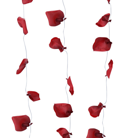 ROSE PETAL GARLAND - RED Red