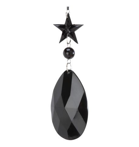 JEWEL DROP STAR & ALMOND - BLACK Black