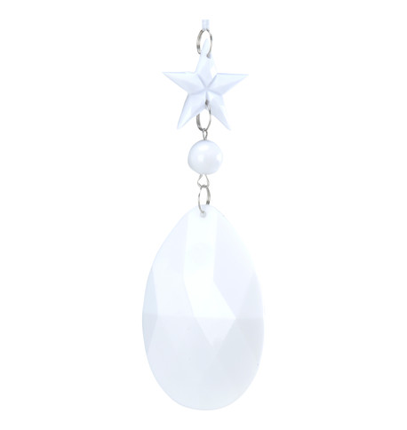 JEWEL DROP STAR & ALMOND - WHITE White
