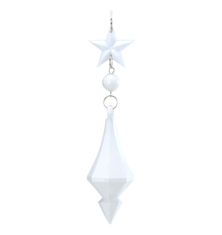 WHITE star and jewel drop White