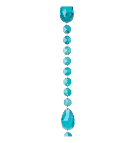 JEWEL GARLAND OCTAGON & ALMOND - TURQUOISE Turquoise
