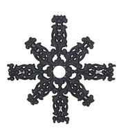 FLOCKED SNOWFLAKE - BLACK - Black