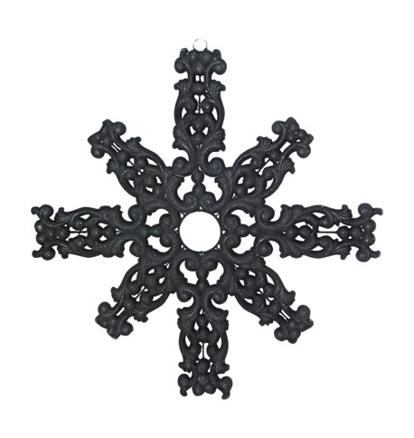 FLOCKED SNOWFLAKE - BLACK Black