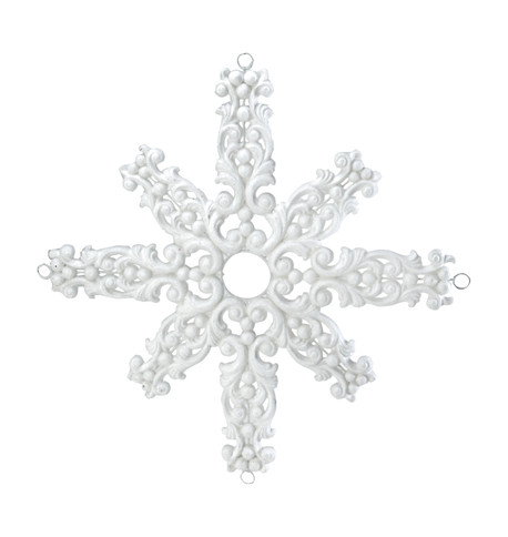 FLOCKED SNOWFLAKE - WHITE White