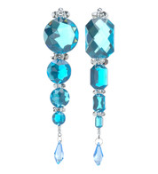 JEWEL & SEQUIN DROP - TURQUOISE - Blue