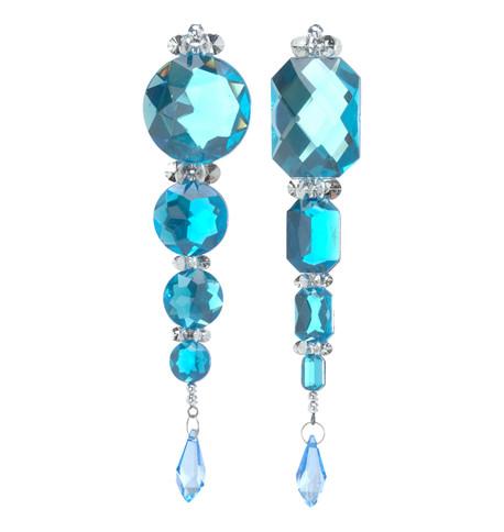 JEWEL & SEQUIN DROP - TURQUOISE Turquoise
