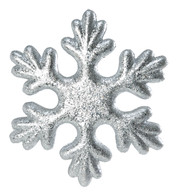 GLITTERED SNOWFLAKE - SILVER - Silver