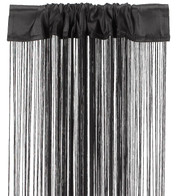 FRINGE CURTAIN - BLACK - Black