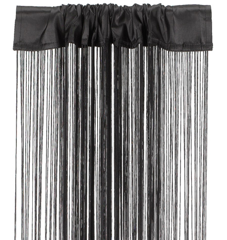 FRINGE CURTAIN - BLACK Black