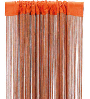 FRINGE CURTAIN - ORANGE - Orange