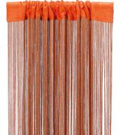 FRINGE CURTAIN - ORANGE - Orange