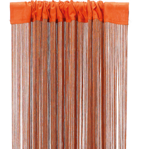 FRINGE CURTAIN - ORANGE Orange