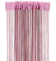 FRINGE CURTAIN - PINK - Pink