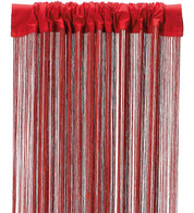FRINGE CURTAIN - RED - Red
