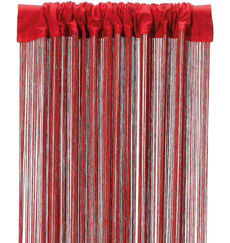 FRINGE CURTAIN - RED Red