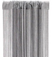 FRINGE CURTAIN - SILVER GREY - Grey