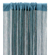 FRINGE CURTAIN - TEAL - Green
