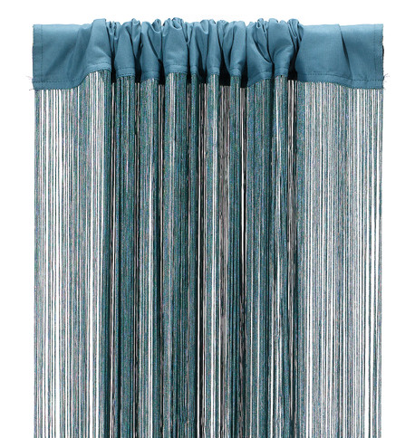 FRINGE CURTAIN - TEAL Teal