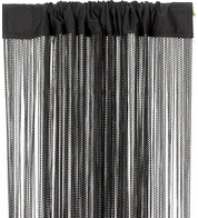 WAVE FRINGE CURTAIN - BLACK - Black