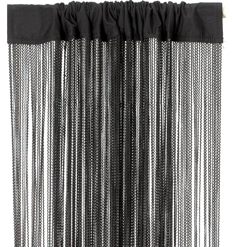 WAVE FRINGE CURTAIN - BLACK Black
