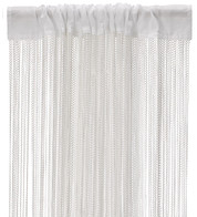 WAVE FRINGE CURTAIN - WHITE - White
