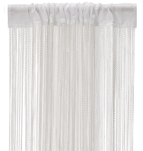 WAVE FRINGE CURTAIN - WHITE White