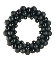 BAUBLE WREATH - BLACK - Black
