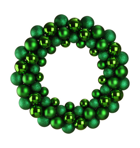 BAUBLE WREATH - GREEN Green