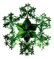 FOIL SNOWFLAKE - GREEN - Green
