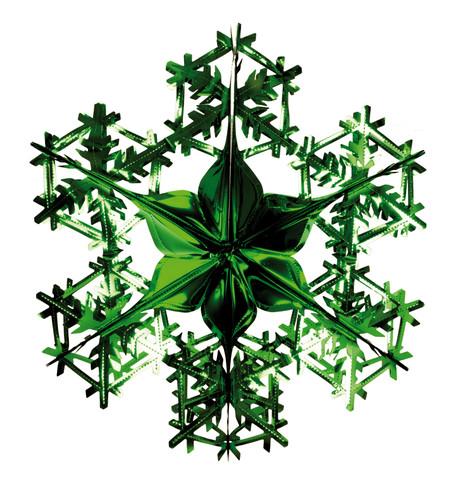 FOIL SNOWFLAKE - GREEN Green