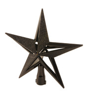 GLITTER PANELLED TREE TOPPER - BLACK - Black