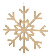 GLITTERED GIANT SNOWFLAKE - CHAMPAGNE - Gold