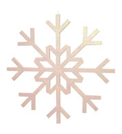 GLITTERED GIANT SNOWFLAKE - IRIDESCENT - Iridescent